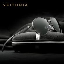Veithdia 패션 브랜드 디자이너 알루미늄 마그네슘 남자 선글라스 편광 된 미러 렌즈 남성 안경 선글라스 남자 3801