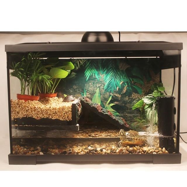 Aquatic Turtle Tank Kit With Basking Platform Wire Mesh Lid Aquarium