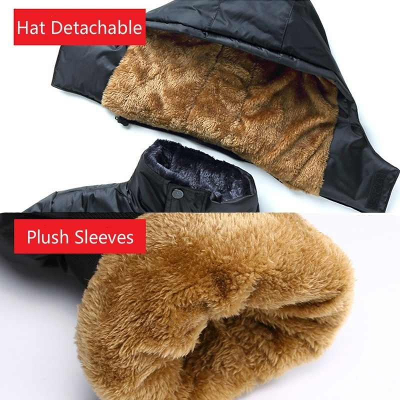 冬男性パーカーコート暖かいなフード付きジャケット上着 2019 固体ベルベット厚みのジッパーパーカープラスメンズ服