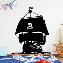 Pretty Pirate Ship Home Decor Modern Acrylic Decoration Decor Living Room Stickers Bedroom Removable For Kids Room Decor Mural цена и фото