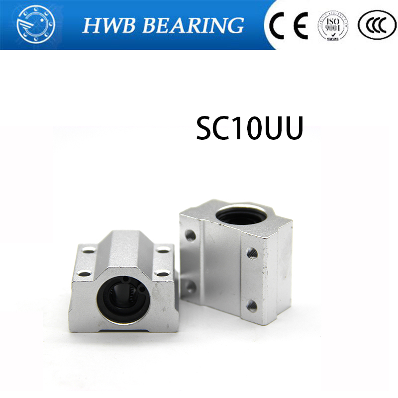 High quality Free Shipping 4pcs SC10UU SCS10UU Linear motion ball bearings slide block bushing for 10mm linear shaft guide rail