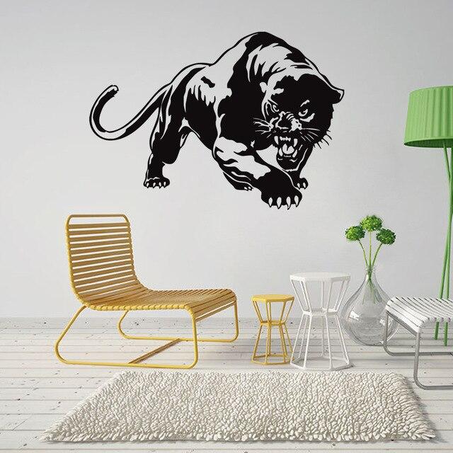 US $4.73 38% di SCONTO|Leopardo Animale Da Parete Adesivi Per Soggiorno  camera Da Letto Decorazione per La Casa Arte Carta Da Parati Adesivi Mobili  ...