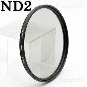 Image 2 - KnightX ND2 ND4 ND8 ND16 ND 52 มิลลิเมตร 58 มิลลิเมตร 67 มิลลิเมตร 77 มิลลิเมตรตัวกรองเลนส์กล้องสำหรับ canon eos sony nikon 400d d70 photo kit 60d 200d 18 135