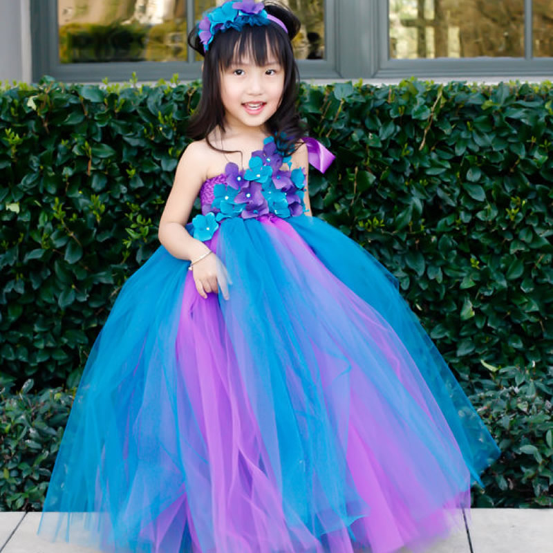 2016 top quality princess flower girl dresses light blue and pink 2016 top quality princess flower girl dresses light blue and pink flower 2 8y cute draped ball gown wedding party children prom in dresses from mother mightylinksfo