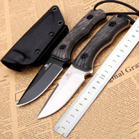 HOT SALE Fixed Knife 60HRC D2 Blade With K sheath Full Tang Outdoor Hunting Survival Camping Tactical Bushcraft Knives