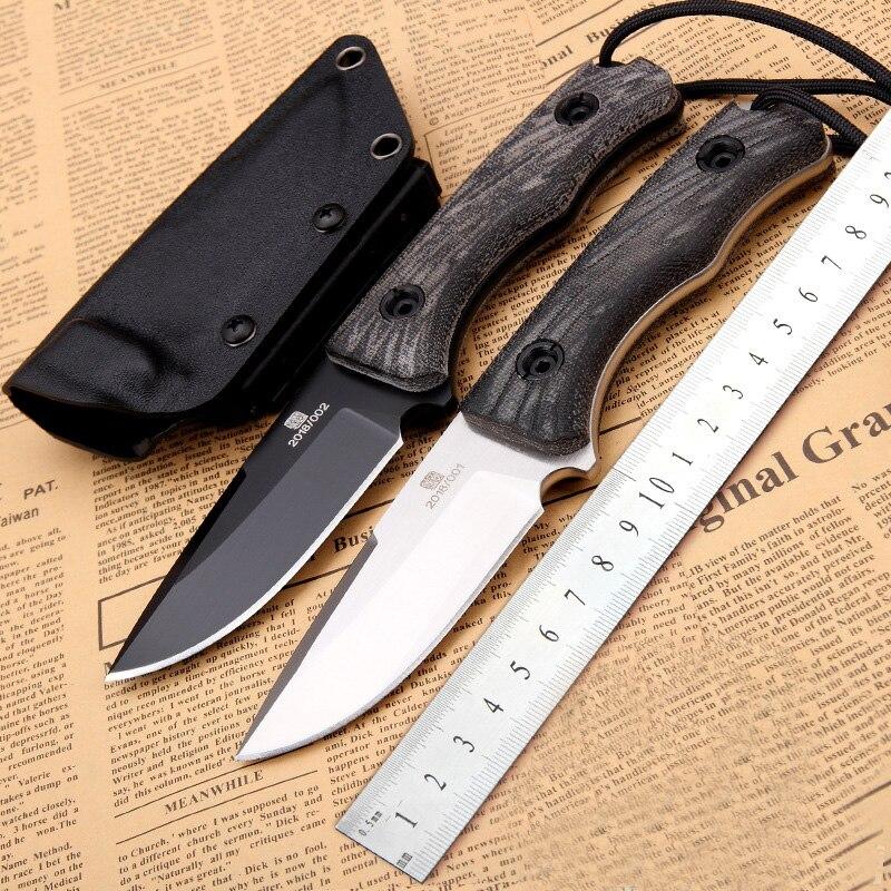 Offre spéciale couteau fixe 60HRC D2 lame avec gaine K pleine Tang chasse en plein air survie Camping tactique Bushcraft couteaux