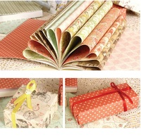 24sheets DIY Royal rose theme gift wrapping paper creative papercraft art paper handmade scrapbooking kit set books