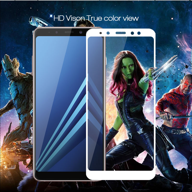 Full Cover Tempered Glass For Samsung A8 2018 Pelicula Protectora 9H Protective Film For Samsung <font><b>A82018</b></font> Glass Full Films image