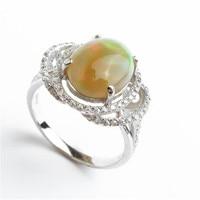 גודל 8 מקורית של ריאל הטבעי אבני חן אופל אש חתונה לנשים גבירותיי קסם 925 כסף סטרלינג אופנה אירוסין טבעת