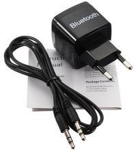 AC 220V EU Wireless Bluetooth Receiver Adapter 3.5MM AUX Audio Stereo Music Receiver Bluetooth Audio Adapter