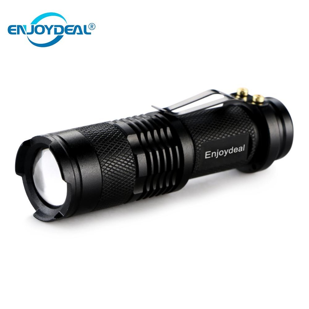 Mini LED Flashlight 2000LM Q5 LED Flashlight Torch AA Adjustable Zoom Focus Torch Lamp Penlight Waterproof For Outdoor 1 /3modes