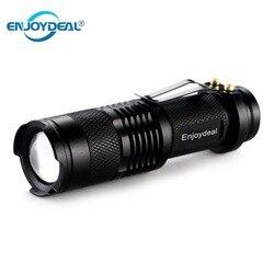 Мини светодиодный фонарик 2000LM Q5, светодиодный фонарик, фонарик AA, Регулируемый зум, фокусировка, фонарь, водонепроницаемый, для улицы, 1/3 реж...