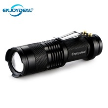 Mini LED Flashlight 2000LM Q5 LED Flashlight Torch AA 14500 Adjustable Zoom Focus Torch Lamp Penlight Waterproof For Outdoor Hot cheap Flashlights SGAA145A-d Black Aluminum Alloy Shock Resistant Zoom In 100-200 m Q5 LED Torch Flashlight Outdoor camping adventure
