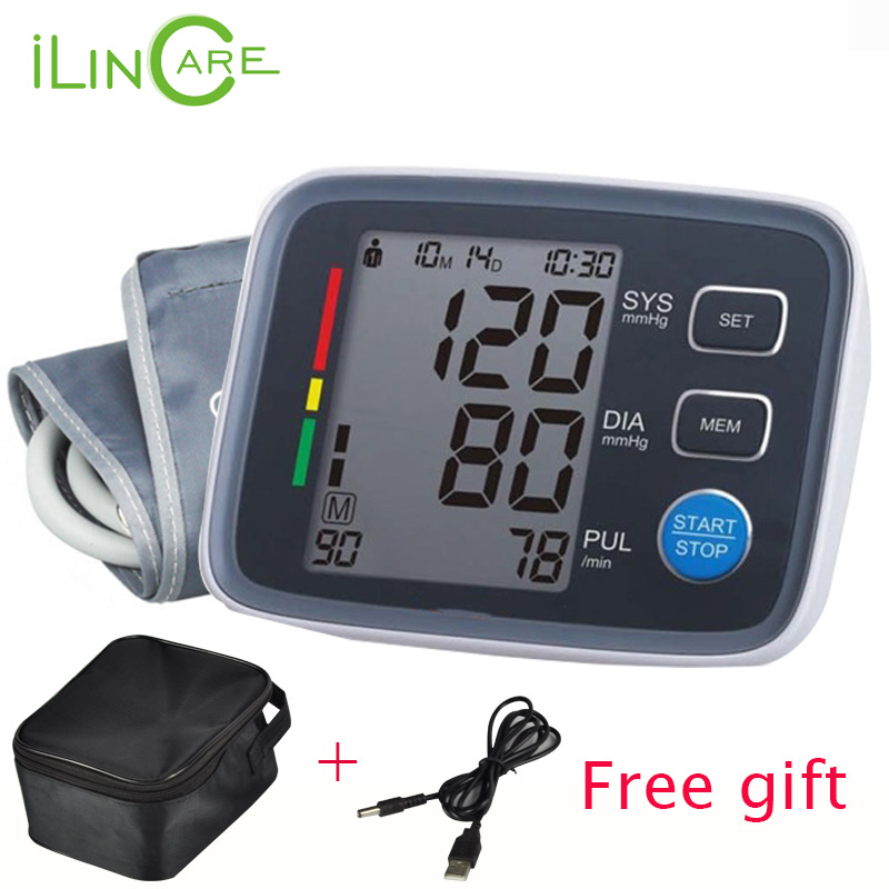 Arm Blood Pressure Pulse Monitor Health care Monitors Digital Upper Portable Blood Pressure Monitor meters sphygmomanometer high quality ce fda blood glucose meters monitor blood sugar diabetics test glycuresis monitor 50 strips 50 needles