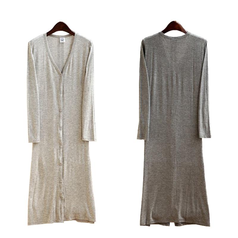 ALI shop ...  ... 32706541551 ... 2 ... Cardigan Women Summer 2019 New Thin Kimono Long Casual Modal Gilet Femme Manche Longue Outerwear Cardigans Coats Black Gray Coat ...