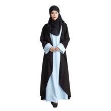 Fake two pieces Muslim Dress Women Islamic Abaya dresses picture jilbab clothes burka Lady turkish women