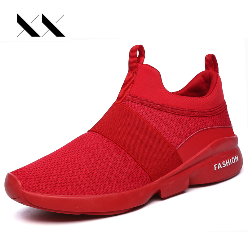 Air Sport Mesh Men Running Shoes Slip On Breathable Comfortable Superstar Feminino Chaussure Hombre Red Bottom Sneakers Jogging