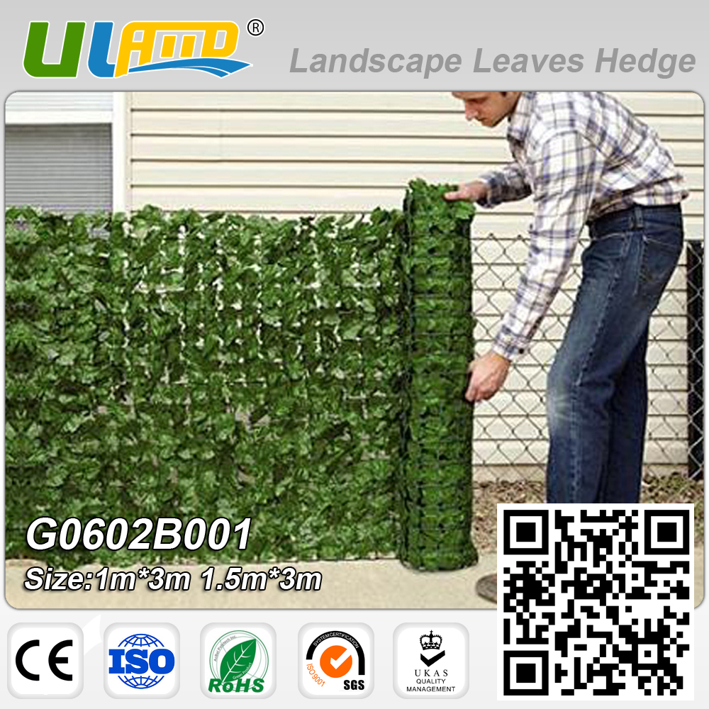 1mx3m Artificial Plants Boxwood Roll Privacy Screen Plants Fence Plastic  Hedge Garden Decor Balcony Outdoor Greenery