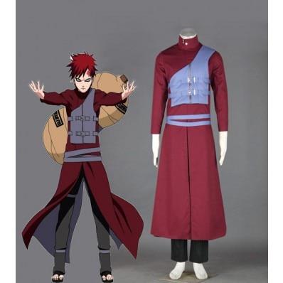 Naruto Shippuden Gaara Red Cosplay Costume Cartoon Character