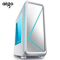 Aigo ATX Mid Turm Gaming Computer Fall 240mm Wasser Kühlung PC Fan AIO Unterstützung 450*190*470mm Gaming Stil Fenster Fall Chassis