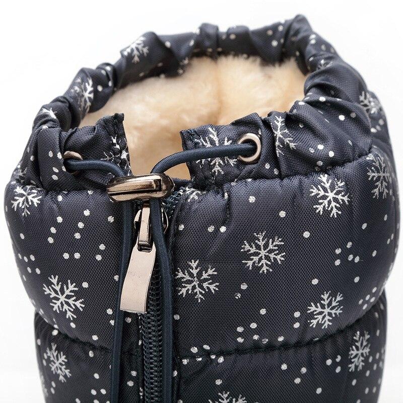 blanco Nueva Plataforma Invierno Frontal Mujer Blanco Wsh3098 Negro Nieve Copo Caliente Zapatos Mujeres Beckywalk Moda Cremallera Negro Botas De UqCUdwz