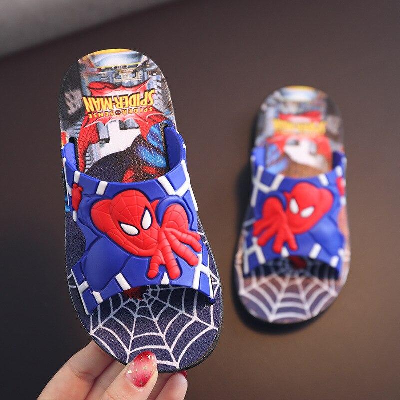 Spiderman Baby Slippers For Kids Boys Girls Flip Flops Summer Beach Sandals Toddler Girls House Slippers Children Casual Shoes