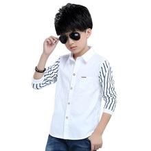 2016 New Children Clothes Long-sleeve School Shirts Boys 100% Cotton Spring Autumn Shirts Boys Blouses Breathable Shirts XC16