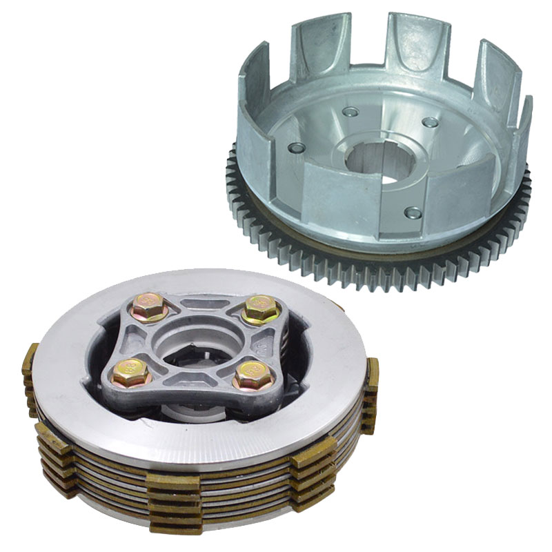 Motorcycle 4 Column Enhanced Clutch 5pcs Friction DIsc Center Outer Clutch Assy for CG125 CG150 Dirt Bike Go Cart ATV Buggy sachs sd80310 clutch disc