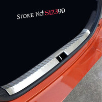 1 Stainless Steel Rear Trunk Inner Door Sill Bumper Protector Plate Cover Trim For Toyota Vios