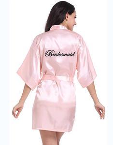 Image 1 - Personalisierte gedruckt Braut Partei Roben Brautjungfern mutter der braut bräutigam maid of honor Hochzeit Tag geschenk satin robe