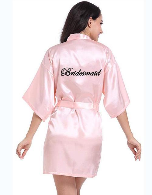 Personalisierte gedruckt Braut Partei Roben Brautjungfern mutter der braut bräutigam maid of honor Hochzeit Tag geschenk satin robe