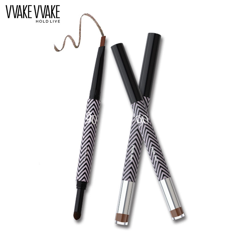 HOLD LIVE 5 Colors Eyebrow Pencil Long-Lasting Eye Brow Pen Brushes For Cosmetic Makeup Black Brown Color Eyes Make Up