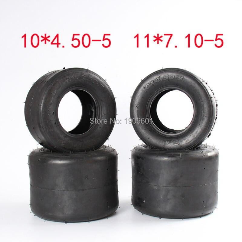 Haute qualité qingda pneus 10X4. 50-5 & 11X7. 10-5 kart pneu dérive vélo roues accessoires ATV Quad pièces de rechange