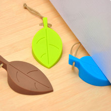 1Pcs Silicone Door Stopper Wedge Finger Protector, Premium Cute Colorful Cartoon Leaf Style Flexible Silicone Window/ Door Stops