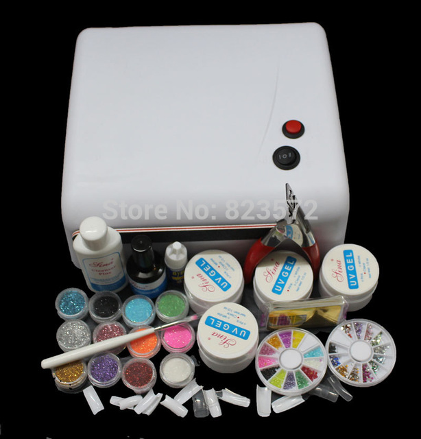 UC-122 36W White UV Lamp Gel Polish Curing Dryer Light Acrylic UV Nail Art Kit Set nail tools btt 116 free shipping pro 36w uv dryer acrylic nail art set acrylic nail kit kit nail gel kit gel nails set with lamp