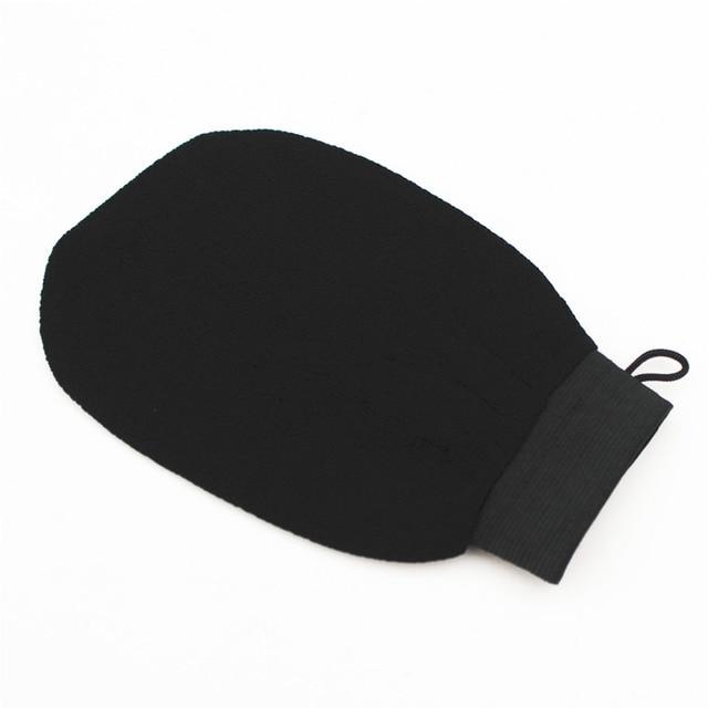 High Quality 1 PC Magic Black Exfoliator Bath Glove Body Cleaning Scrub Mitt Rub Dead Skin Removal Shower Spa Massage 2