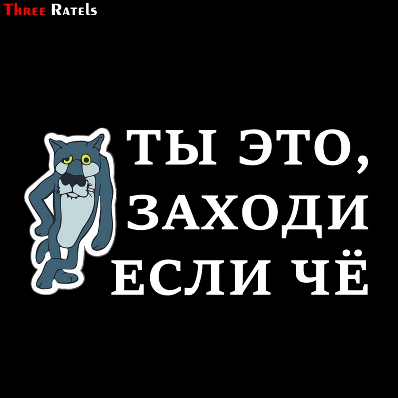 Three Ratels TZ-1155 12*24.6cm 1-4 Pieces Car Sticker You Just Come In If Something Funny Car Stickers Auto Decals