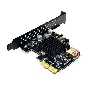 Image 3 - Thêm Trên Thẻ Pci Express 3.0 Usb 3.1 Pci E Card Pcie Adapter Usb Raiser Loại E Usb3.1 Gen2 10gbps + Usb2.0 Thẻ Nhớ Mở Rộng