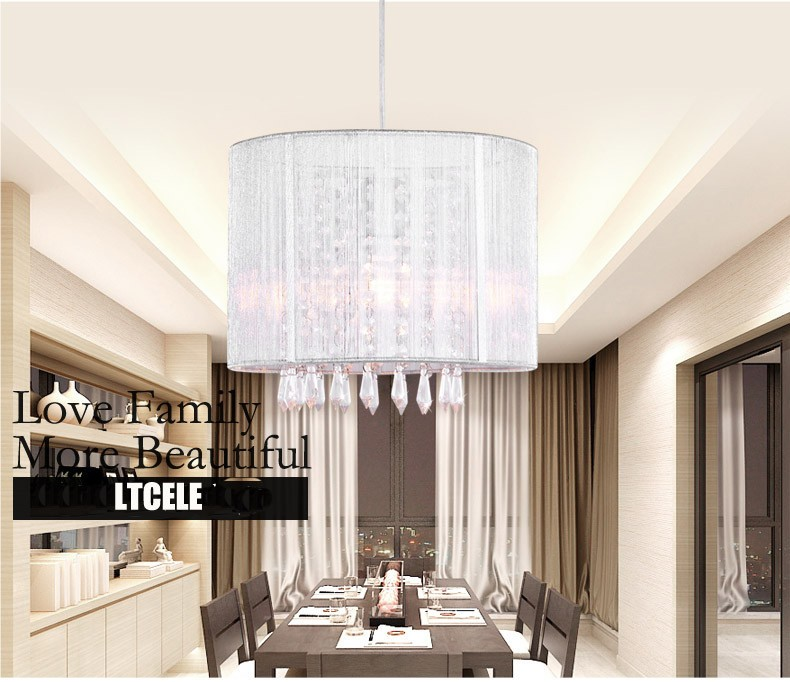Aliexpress com : Buy Modern crystal chandelier importers K9 crystal lustres  de cristal fixture Black White fabric chandelier for living bedroom lamp
