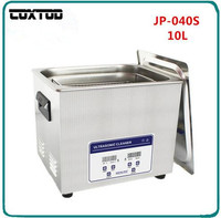 COXTOD JP 040S 220V/110V Stainless Steel Washing Machine 240W Ultrasonic Cleaner 10L 40KHz With Drain Valve With Free Basket