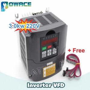 "Image 2 - [משלוח איחוד אירופי/משלוח מע""מ] 3KW תדירות משתנה כונן VFD מהפך инвертор 220V 4HP פלט 3 שלב 13A & 2M הארכת כבל"