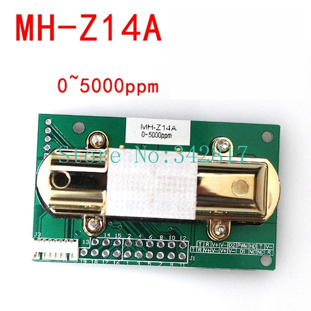 CO2 SENSOR MH-Z14A infrared carbon dioxide sensor module,serial port, PWM, analog output with cable 0-2000PPM 0-5000PPM