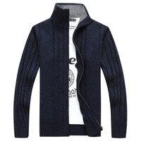 Men Long Sleeve Big Yards Sweater Fashion Men S Clothing Winter Coat Stand Collar Male Cardigan