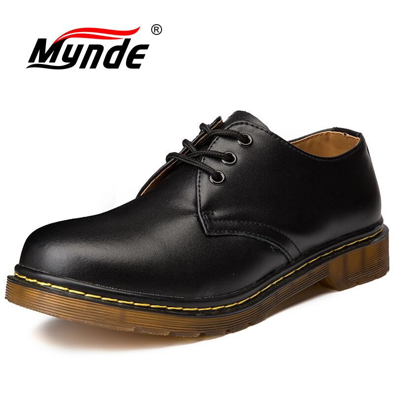 Mynde  Brand Mens Shoes Genuine Leather Handmade Luxury Mens Oxfords Top Quality Casual Shoes Men Work Shoes Large Size Flats