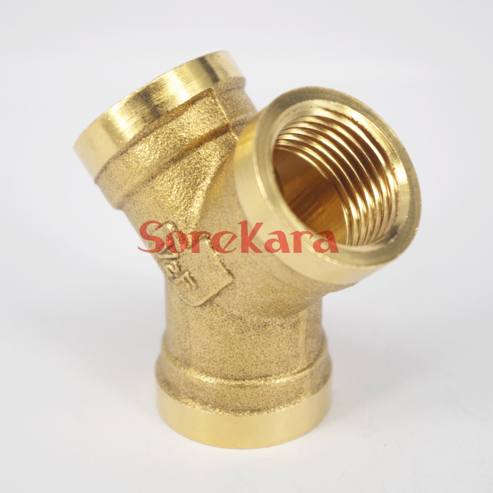 Y 3 Ways Brass Pipe Fitting Connector 1/2