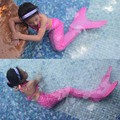 2017 Christmas Purim Carnival Swimming Mermaid Tail Cosplay Costume with Fin Mermaid Swimwear Funny Party Dress for Girl Child