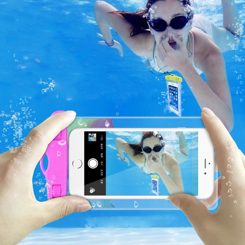 Waterproof Phone Pouch for iPhone X/8/7/6S Plus Outdoor Drift Swimming With Lanyard Boating Snorkeling Skiing Diving Mobile Bags