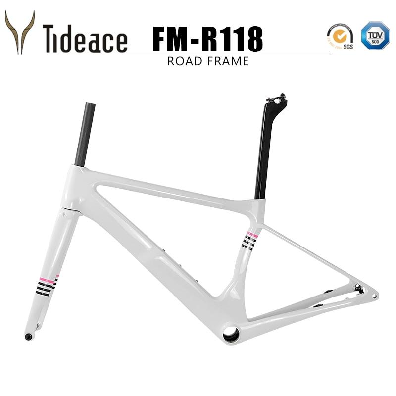 2018 Carbon Fiber Racing Super Light UD Carbon Road Bike Frame 140m Disc Brake Bike Frameset Carbon Fiber Bicycle Frame S/M/L/XL