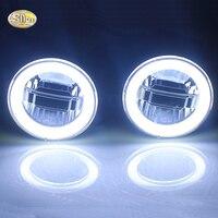 SNCN 12V 90mm Led fog lamp for Peogeut 2008 3008 208 207 307 308 408 4007 4008 daytime running lights angle eyes light