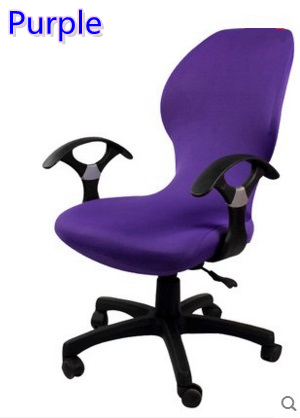 Enjoyable Us 6 0 Purple Colour Lycra Computer Chair Cover Fit For Office Chair With Armrest Spandex Chair Cover Decoration Wholesale In Chair Cover From Home Cjindustries Chair Design For Home Cjindustriesco